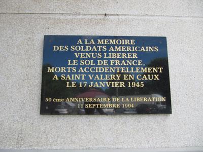 Plaque comm�morative St Val�ry en Caux
